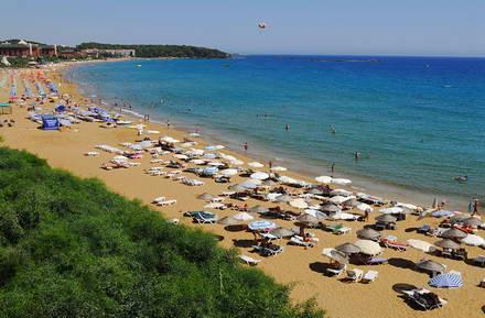 Лучшие пляжи Аланьи в Турции - песчаный пляж Клеопатра 97