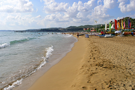 Лучшие пляжи Аланьи в Турции - песчаный пляж Клеопатра 67